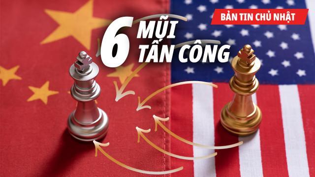 Trung Quốc tăng ngân sách quốc phòng. Trump dùng 6 mũi tấn công bao vây.