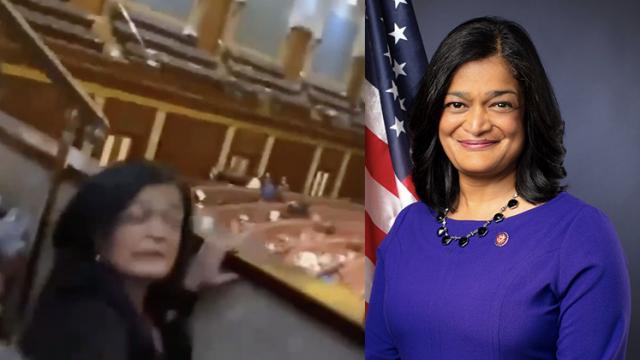 Pramila Jayapal không đeo khẩu trang