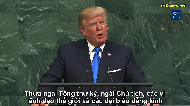 Toàn văn bài phát biểu của Tổng thống Donald Trump trước Đại Hội đồng Liên Hiệp Quốc