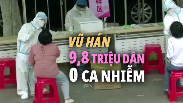 Vũ Hán công bố kết quả xét nghiệm toàn dân