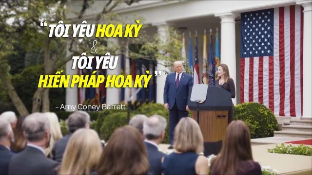 Amy Coney Barret Tôi yêu Hoa Kỳ và tôi yêu Hiến pháp Hoa Kỳ