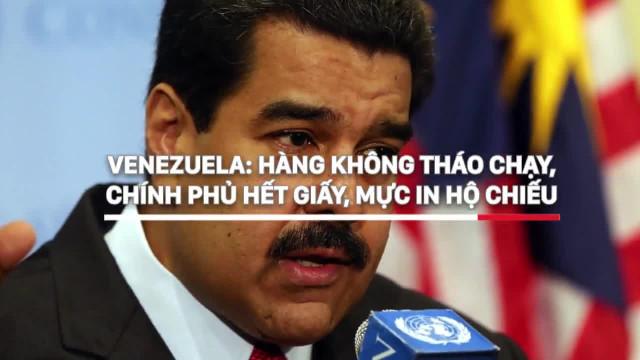 Venezuela  Hàng không tháo chạy, chính phủ hết giấy, mực in hộ chiếu