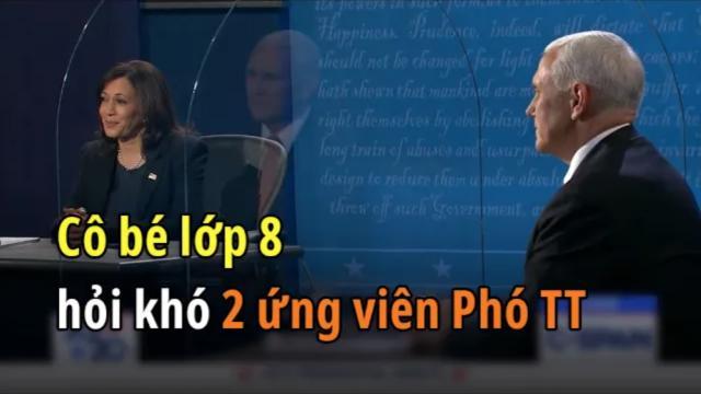 Tranh biện PTT Mỹ 2020: 2 ứng cử viên trả lời câu hỏi khó của cô bé lớp 8