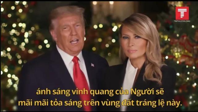 TT Trump cùng Đệ nhất Phu nhân chúc mừng Giáng sinh 2020