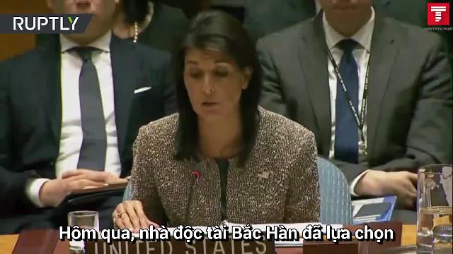 Những phát biểu ấn tượng của bà Nikki Haley tại Liên Hiệp Quốc
