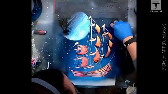 Vẽ tranh phun sơn độc đáo