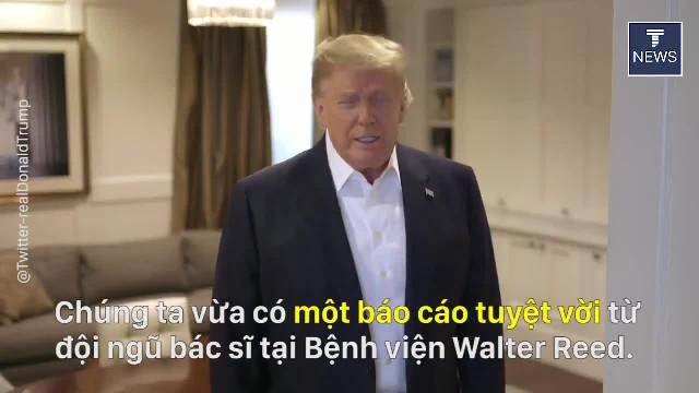 TT Trump đăng video cảm ơn đội ngũ nhân viên y tế Bệnh viện Walter Reed và những người ủng hộ