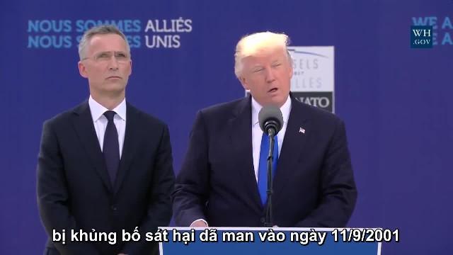 Bài phát biểu khiến các lãnh đạo  NATO bối rối của Tổng thống Mỹ Donald Trump