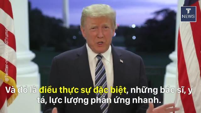 TT Trump đăng video nói Đừng để Covid thao túng, đừng sợ nó