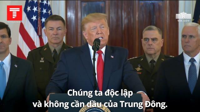Tuyên bố chính thức của Tổng thống Trump sau vụ Iran phóng tên lửa