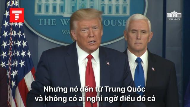 Tổng thống Trump khẳng định gọi 'virus Trung Quốc' là chính xác