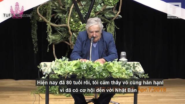 Cựu tổng thống Uruguay - José Mujica phát biểu tại Nhật Bản