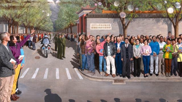 Bức tranh công phu '25/4/1999' thắng giải vàng cuộc thi vẽ tranh quốc tế NTDTV